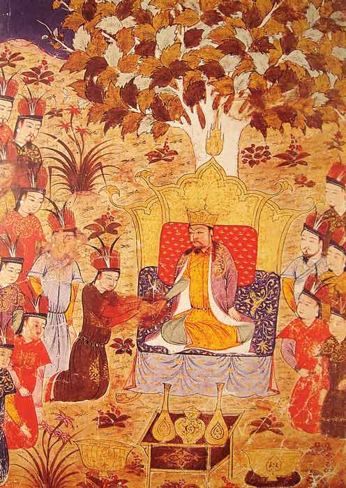 The coronation of Ogodei Khan in 1229 AD. The Mongol khan soon became a big player in Goryeo dynasty politics. (Rashid al-Din / Public domain)