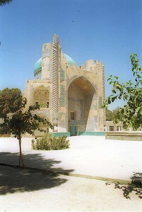 15th century Green (Sabz) Mosque in the city of Balkh, Afghanistan.