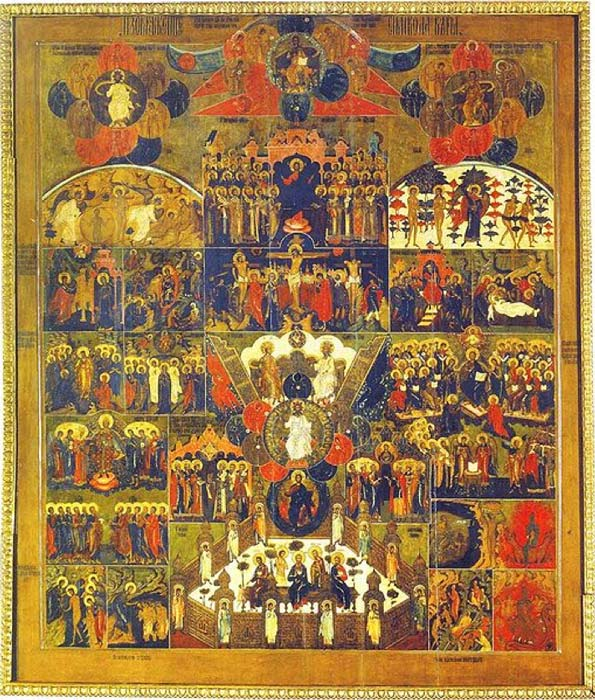 17th-century Russian icon illustrating the articles of the Creed. (Public Domain)