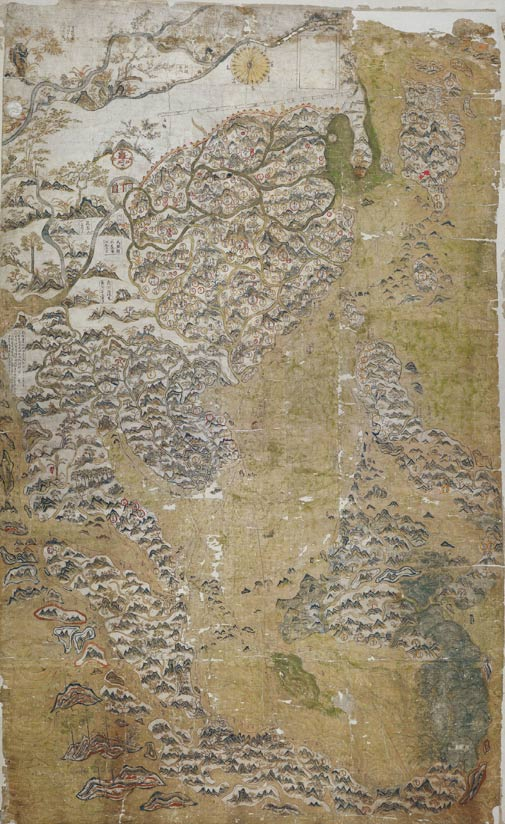 17th century Selden Map of China.