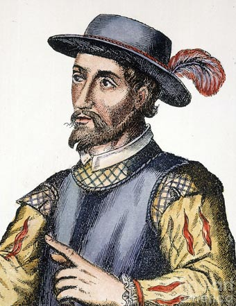 A 17th century Spanish engraving of Juan Ponce de León