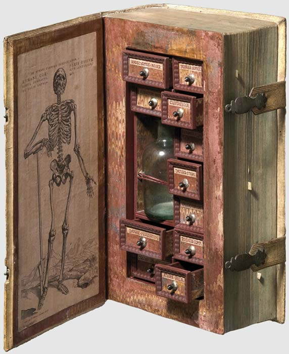 The 17th century faux-book listed as 'poisoner's cabinet.'