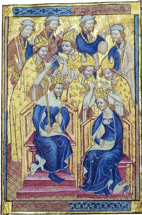 The coronation of King Richard II and Anne of Bohemia. (Public domain)