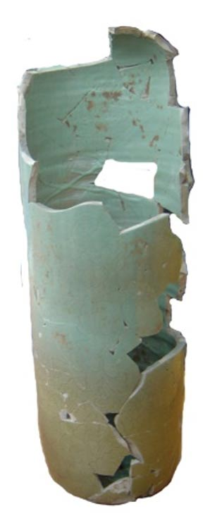 The surprising 2-foot-tall 'vase' is one of the largest celadon pieces ever found in Korea.