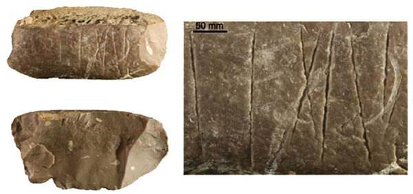 The 30,000-year-old engraved stone found in China