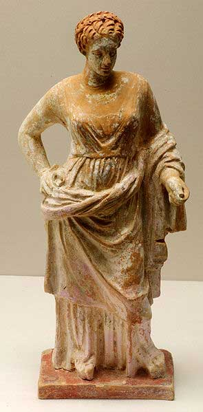 4th century Corinthian terracotta statue of Aphrodite. (MatthiasKabel/CC BY SA 3.0)