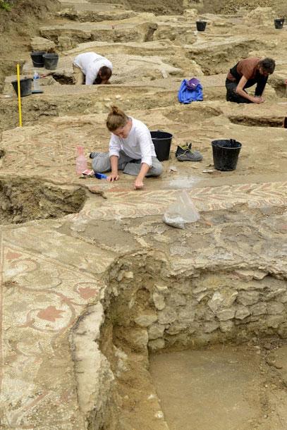 4th century mosaic floors excavated