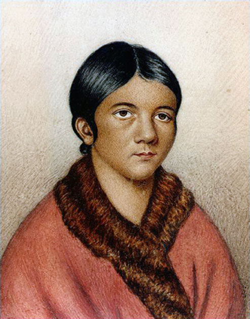 A Beothuk woman, possibly Demasduit (Mary March). (Public Domain)