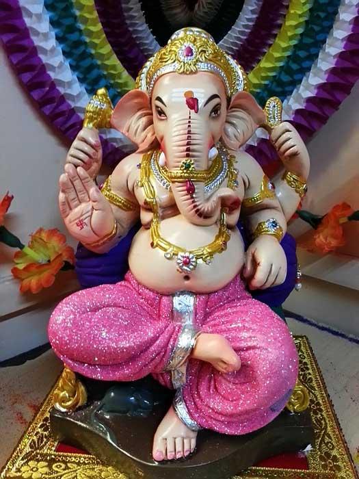 A Ganesha statue.