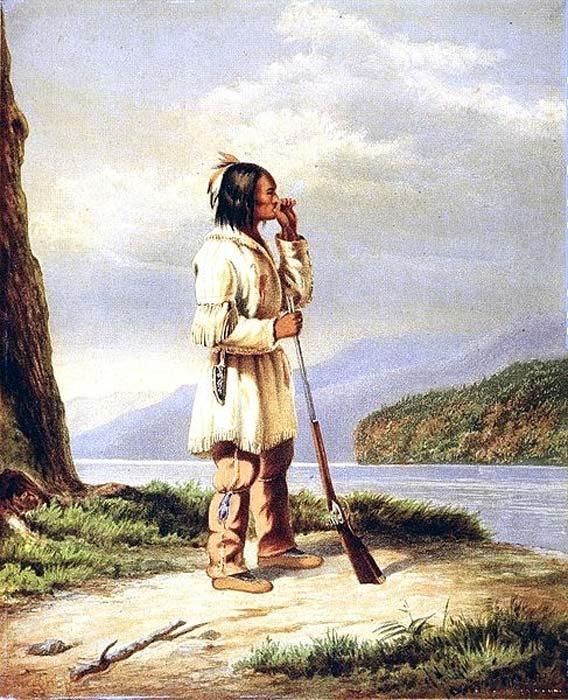 A Huron-Wendat hunter calling moose. (Public Domain)
