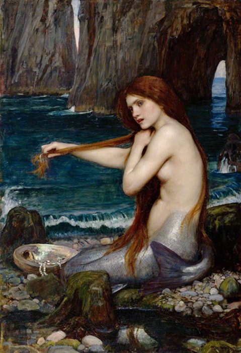 """A Mermaid"" by John William Waterhouse, 1900."