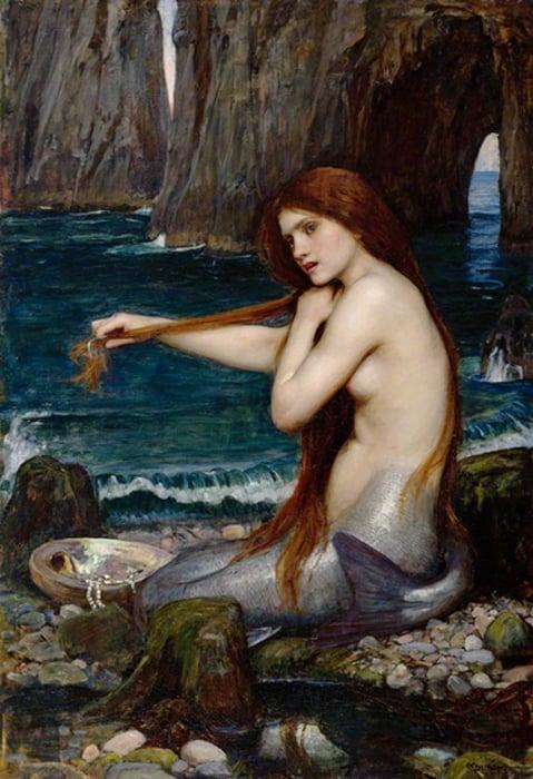 """A Mermaid"" by John William Waterhouse, 1900."