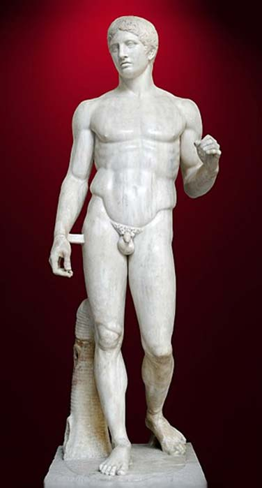 A Roman copy of the Doryphoros, Naples National Archaeology Museum. (CC BY 2.5)