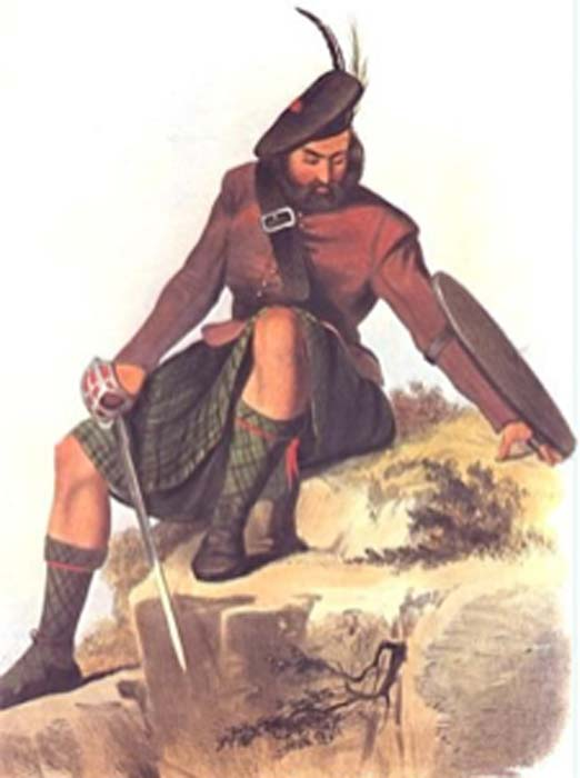A Victorian era romantic illustration of a MacKay clansman. (Angusmclellan / Public Domain)