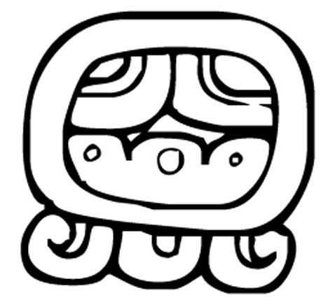 A glyph for the third day (Ak'b'al) in the Maya tzolk'in calendar, which among the Tzeltal and some other highland Chiapas groups was known/identified as Votan.