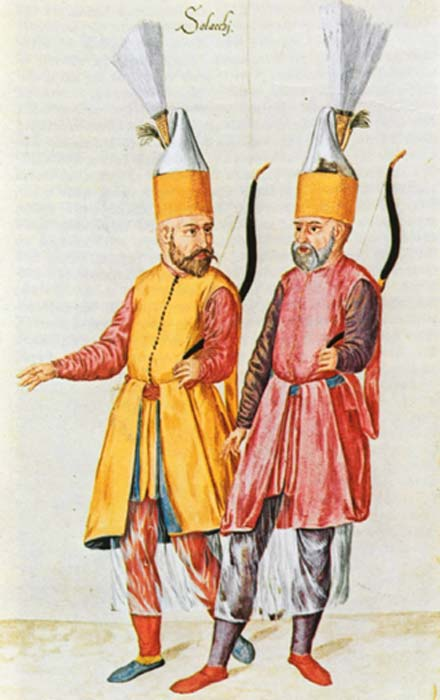 A pair of Solaks, the Janissary archer bodyguard of the Sultan.