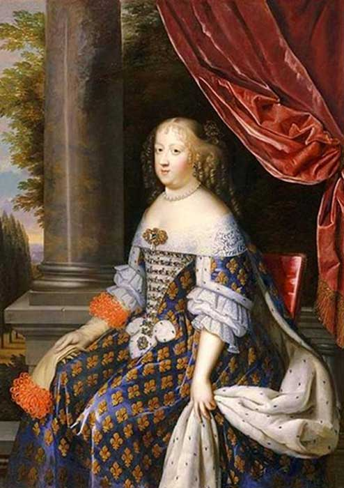 A portrait of Maria Theresa of Spain, by Jean Nocret. (Public Domain)