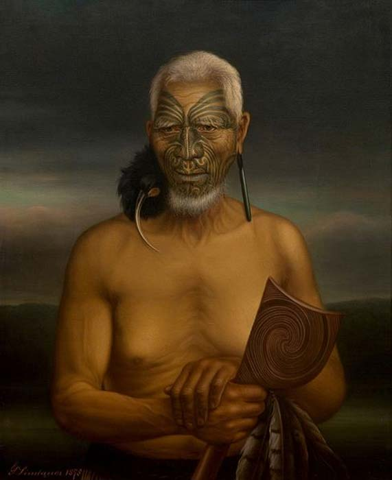 'A portrait of Tukukino' (1878) by Gottfried Lindauer. (Public Domain)
