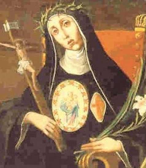 A representation of sister Maria Crocifissa della Concezione.