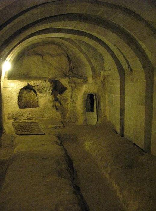 A 'school' in the underground city of Derinkuyu, Turkey.