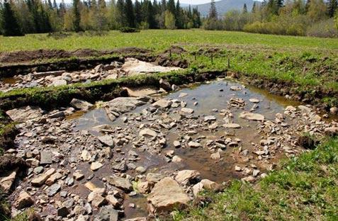 A section of the hooves of the moose geoglyph - Los niños ayudaron a construir el Misterioso Geoglifo Moose de 6.000 años en Rusia