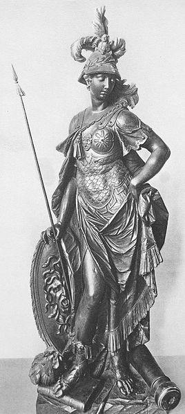 A statue of the Roman war goddess Bellona by the German Rococo sculptor Johann Baptist Straub, 1770. (Public Domain)