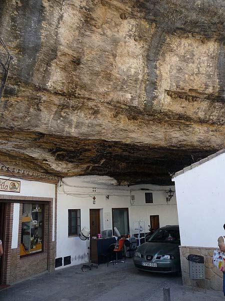 A troglodyte structure in Setenil de las Bodegas, Spain.