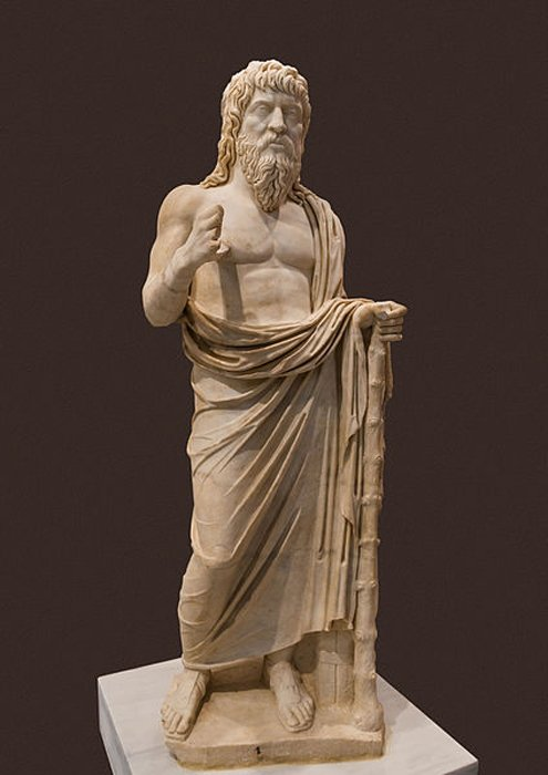 A wandering philosopher, commonly associated with Apollonius of Tyana. Late 2nd - 3rd century AD. (CC0)