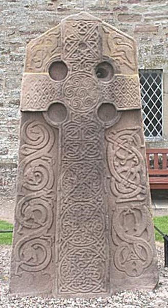Figure 4.1. The Aberlemno Kirkyard Stone, Class II Pictish stone