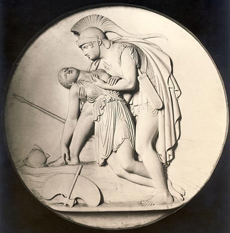 Achilles cradles Penthesilea