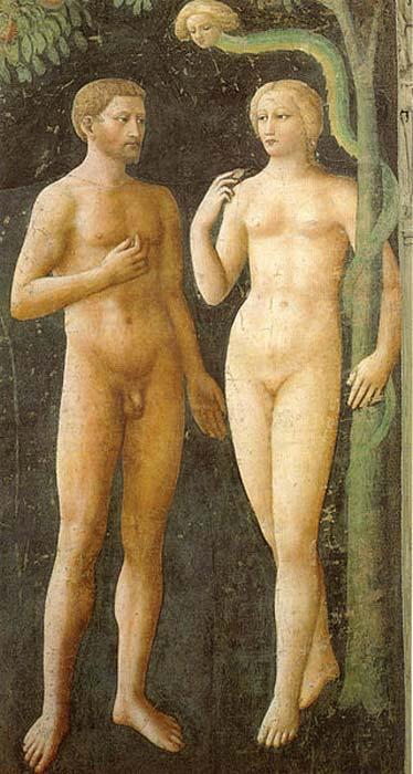 'Adam and Eve' (1425) fresco by Masolino da Panicale.