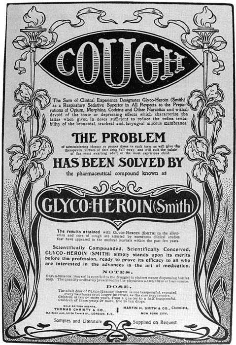 Advertisement for Heroin, around 1900. (Michael de Ridder / Public Domain)