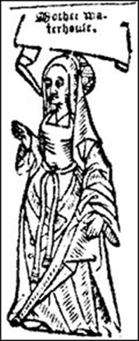 Agnes Waterhouse was accused of bewitching to death William Fynne and was hanged at Chelmsford in England on 29 July 1566.