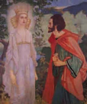 King Ailill and Aine by John Duncan.