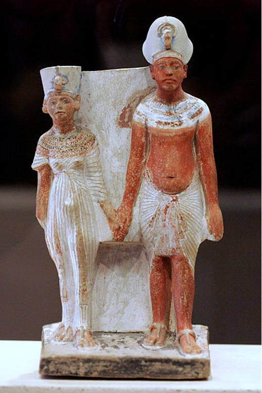Akhenaten and Nefertiti.