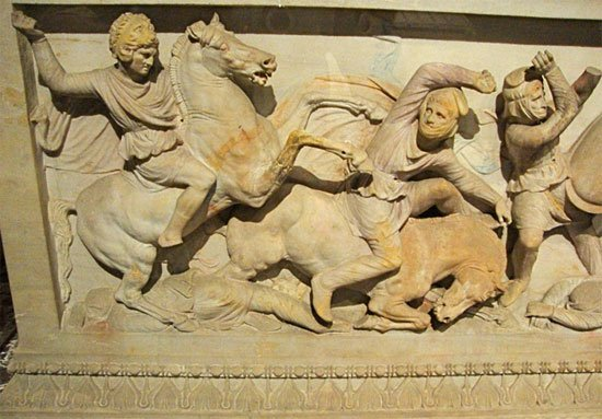 Detail from the Alexander Sarcophagus