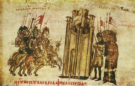 Alexander the Great and Ptolemy I Soter attacking