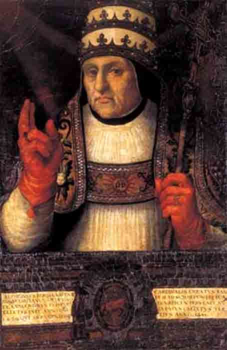 Alfonso Borgia was elected pope on 8 April 1455, and he took the papal name Callixtus III. Two other members of the House of Borgia would also become popes. (Juan de Juanes and workshop / Public domain)