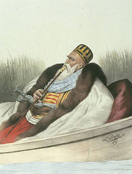 Ali Pasha of Janina Hunting on Lake Butrinto (1825), Louis Dupré