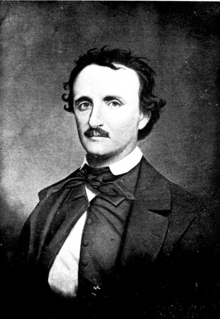 Portrait of Edgar Allan Poe by Oscar Halling in the late 1860s based on a photograph from 1849.