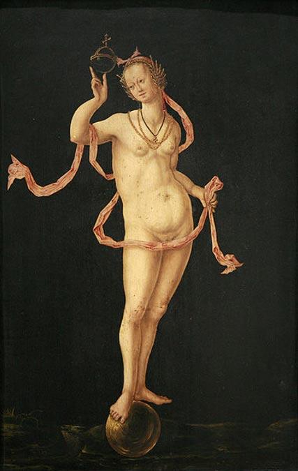 Allegory of Fortune. (circa 1520-1530) Musée des Beaux-Arts de Strasbourg