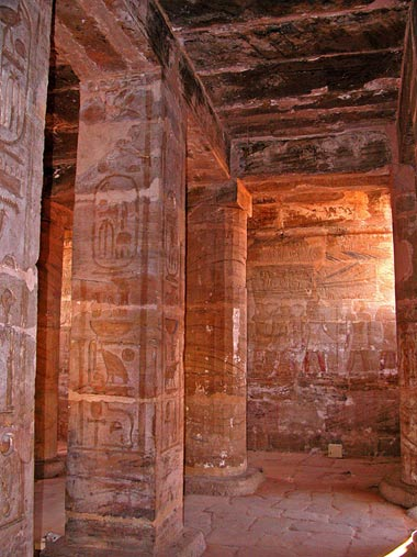 The Amada Temple built by Pharoah Thutmose III