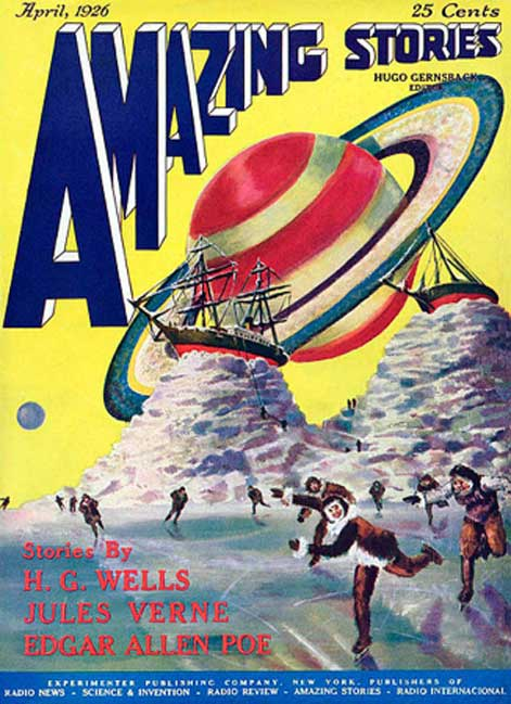 Amazing Stories, April 1926, Volume 1 Number 1. (Public Domain)