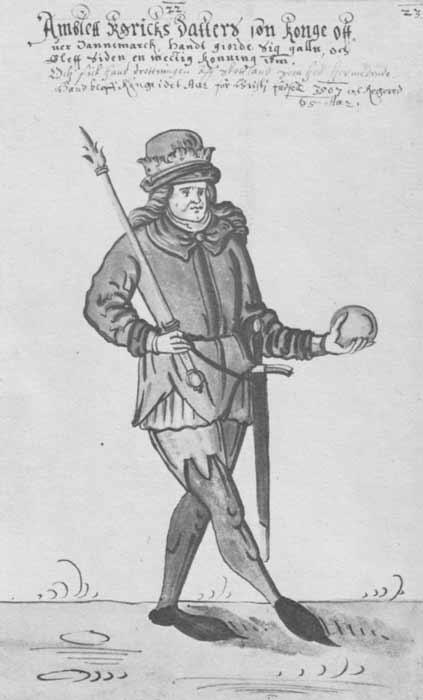 'Amblett' in a 17th-century Danish manuscript illustration. (Public Domain)