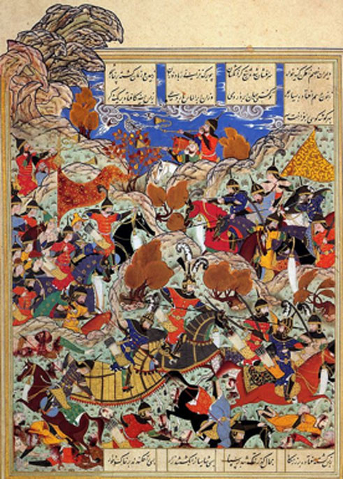 Amir Timur defeating the Mamluk Sultan of Egypt. (Eugene a / Public Domain)