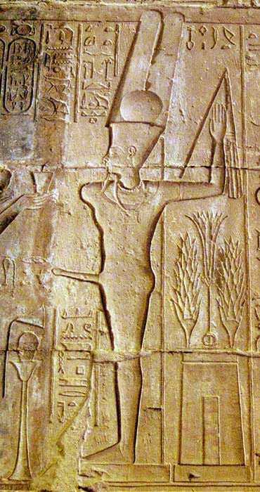 Amun-Min as Amun-Ra ka-Mut-ef from the temple at Deir el Medina.