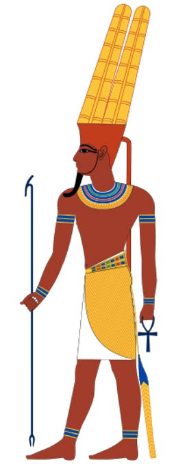 Amun Ra, ancient Eygyptian god, King of the gods and god of the wind.