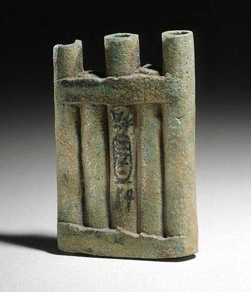 An 18th Dynasty Ancient Egyptian kohl container inscribed for Queen Tiye