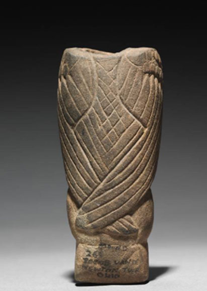 An Adena bird effigy pipe. (The Cleveland Museum of Art)