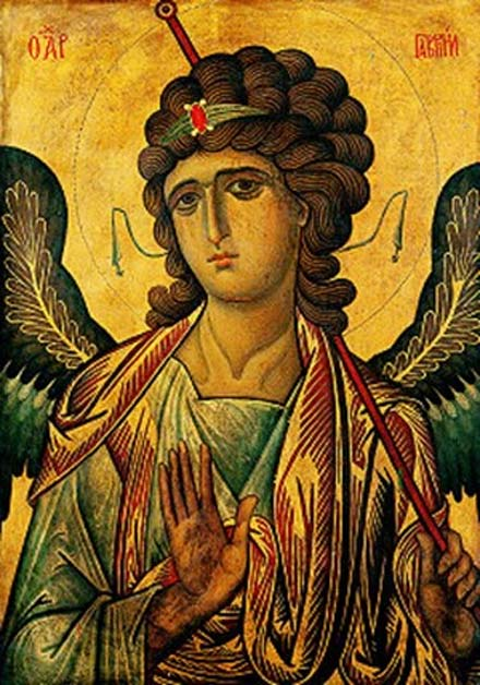 An icon depicting the Archangel Gabriel, in the St. Catherine Monastery in Egypt, 13th century. (Public Domain)